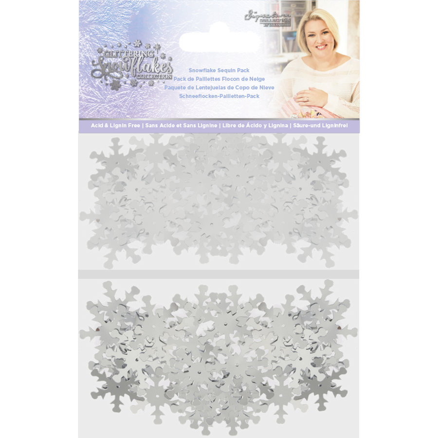Sara Signature Collection - Glittering Snowflakes - Snowflake Sequin Pack
