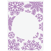 Gemini by Crafters Companion - 5 x 7 Embossing Folder - Snowflake Kisses