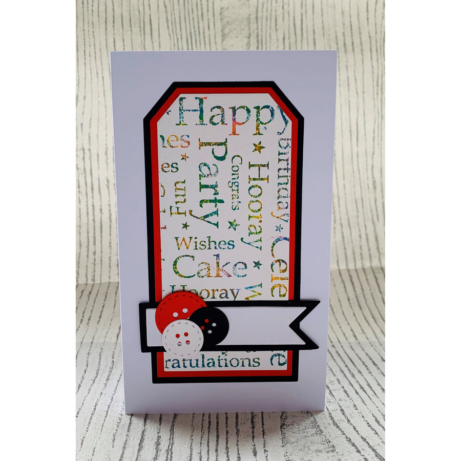 Lisa Horton - Stitched Collection Tags & Banners Craft Die - CEDLH1095