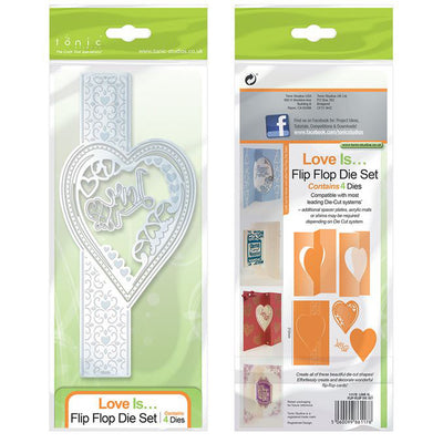 Tonic Die - Flip Flop Die Set - Love Is... - 1117e