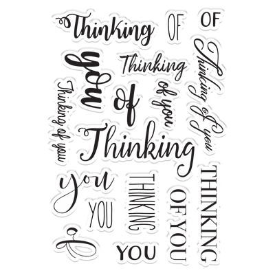 Crafters Companion Stamp - Thinking of You