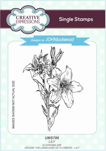 John Lockwood  - Stamps To Die For -   Lily Stamp (UMS786)