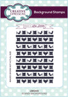 Lisa Horton Stamps - Scandi A6 Background Stamp (UMS805)