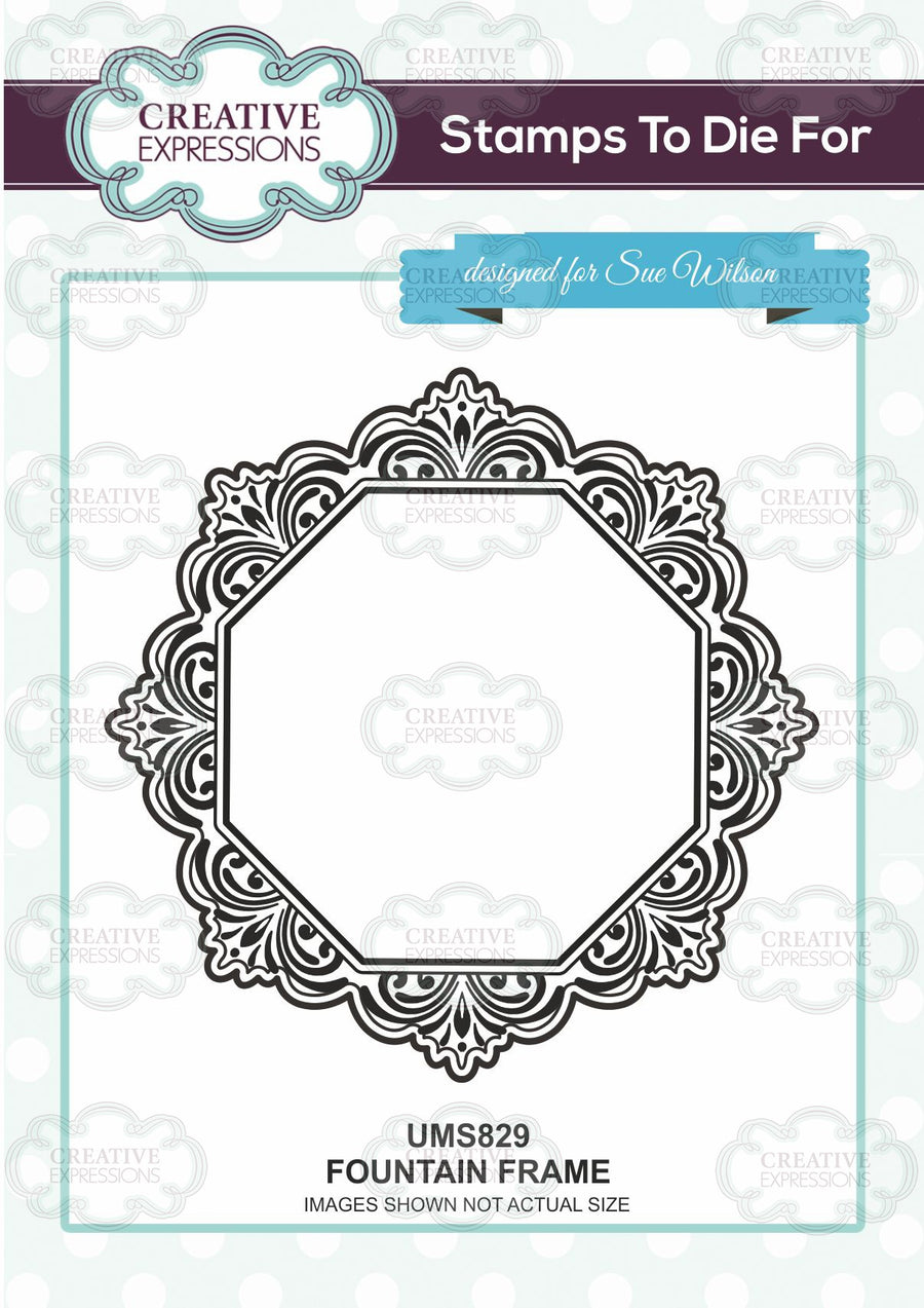 Sue Wilson - Fountain Frame Rubber Stamp UMS829