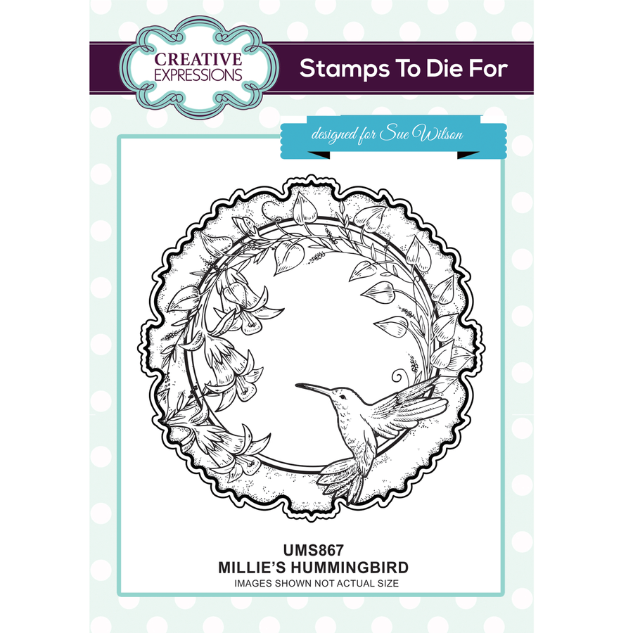 Sue Wilson Stamps To Die For - Millie's Hummingbird Stamp - UMS867
