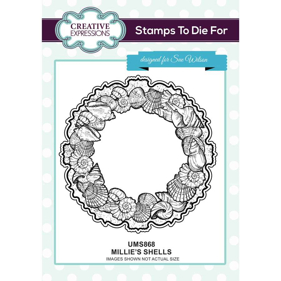 Sue Wilson Stamps To Die For - Millie's Shells Stamp - UMS868