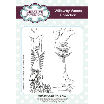 Willowby Woods Collection - Oak Hollow A6 Pre Cut Rubber Stamp - UMS882