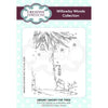 Willowby Woods Collection - Snowy Fir Tree A6 Pre Cut Rubber Stamp - UMS897