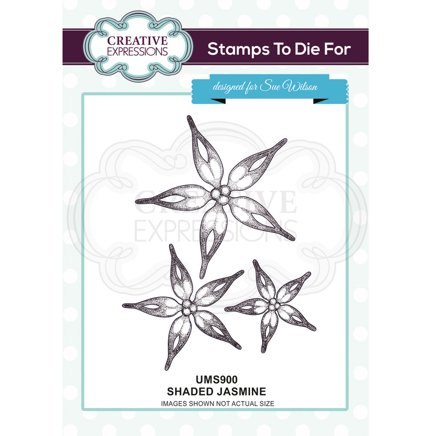 Sue Wilson Dies - Stamp To Die For - Shaded Jasmine - UMS900