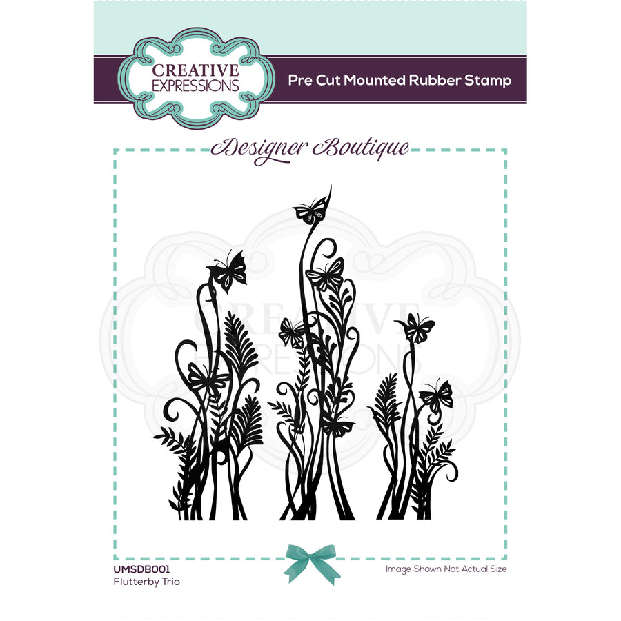 Creative Expressions Stamp - Designer Boutique Collection - Flutterby Trio