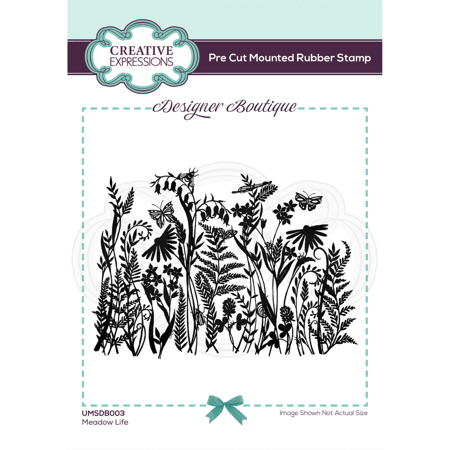 Creative Expressions Stamp - Designer Boutique Collection - Meadow Life