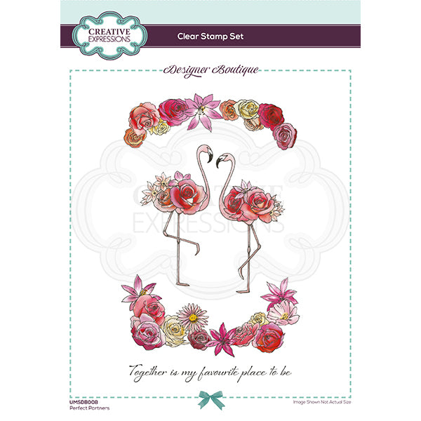 Creative Expressions Stamp - Designer Boutique Collection - Perfect Partners