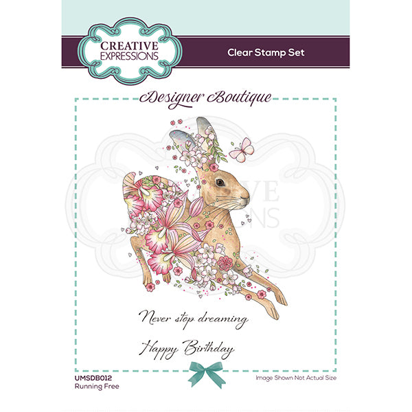 Creative Expressions Stamp - Designer Boutique Collection - Running Free