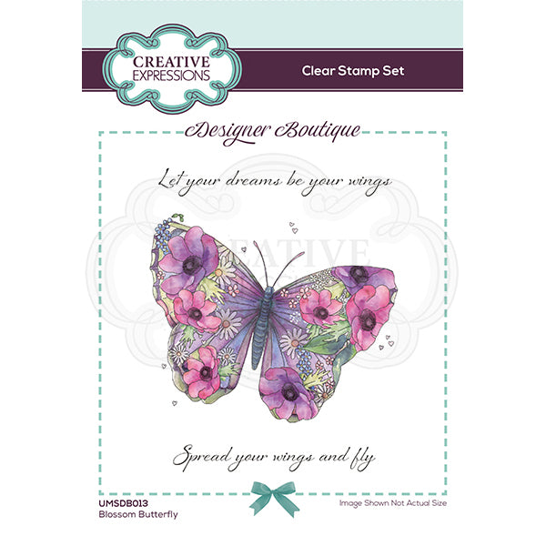 Creative Expressions Stamp - Designer Boutique Collection - Blossom Butterfly