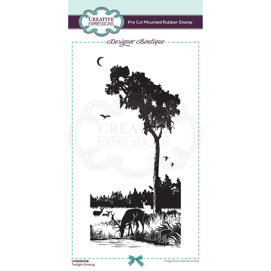Creative Expressions Stamp - Designer Boutique Collection - Twilight Grazing