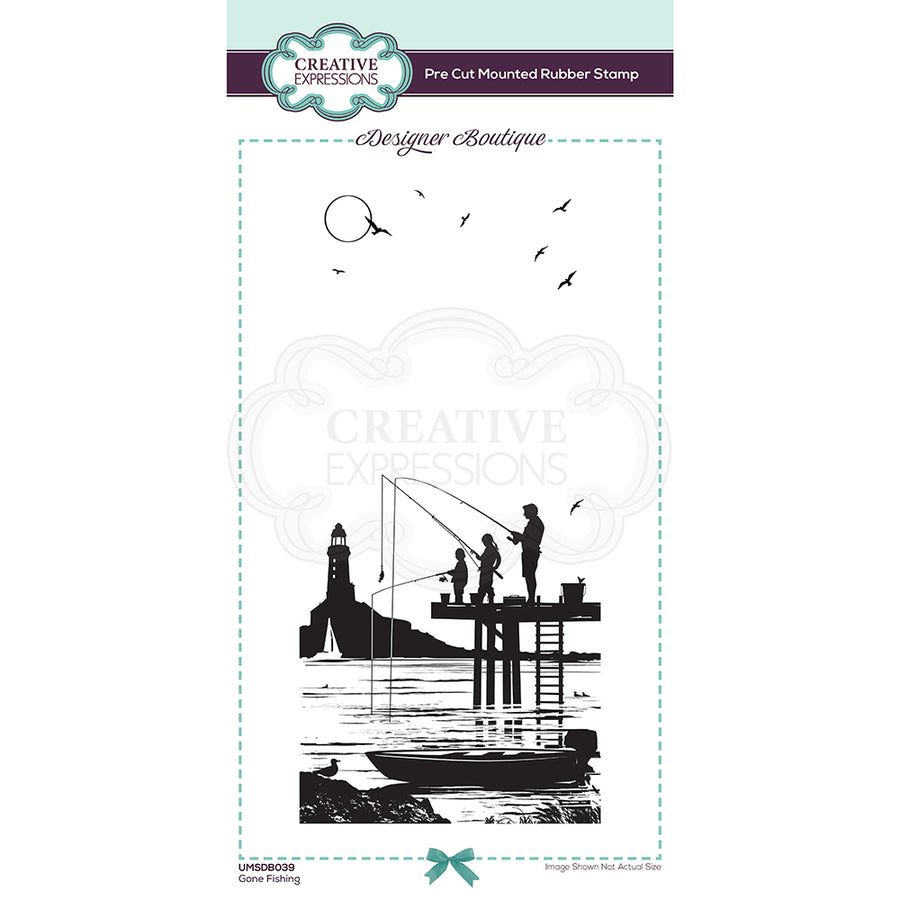 Creative Expressions Stamp - Designer Boutique Collection - Gone Fishing