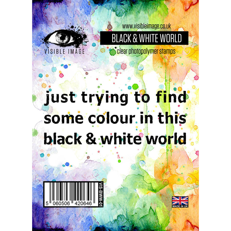 Visible Image Stamp - Black & White World