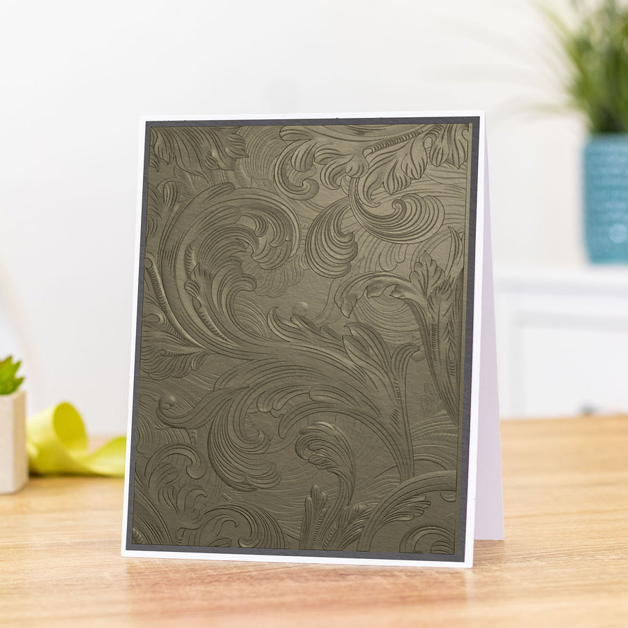 Gemini 5 x 7 3D Embossing Folder - Vintage Scroll