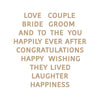 Spellbinders Glimmer Hot Foil Plates - Wedding Season by Nichol Spohr - Wedding Wishes -  GLP-175