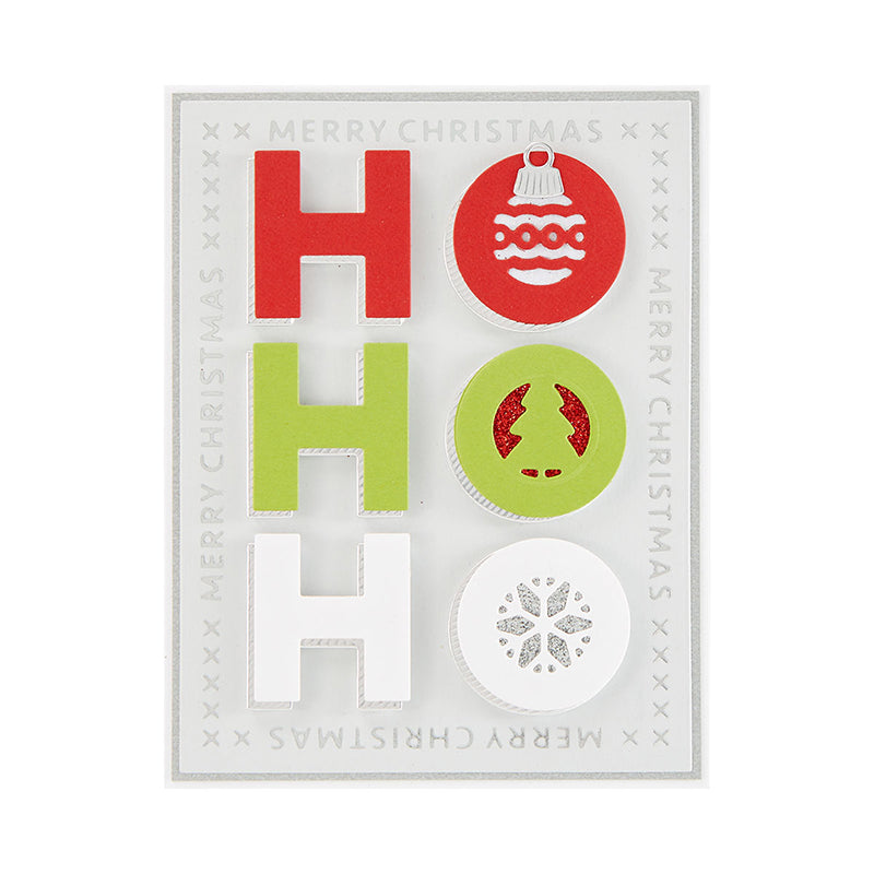 Spellbinders Glimmer Hot Foil Plate - Sparkling Christmas - Christmas Essential Glimmer Rectangles - GLP-183