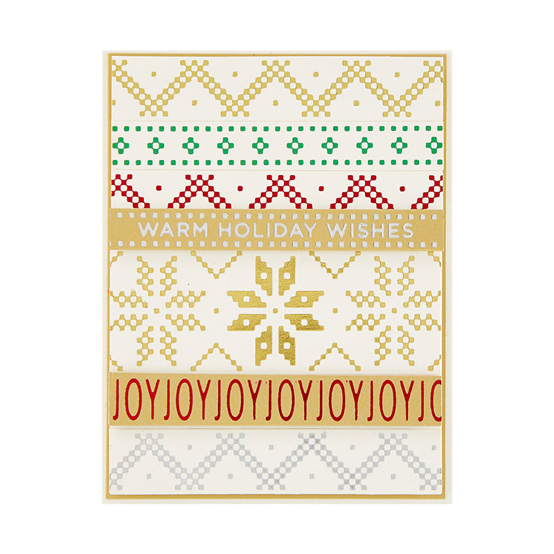 Spellbinders Glimmer Hot Foil Plate & Die Set - Sparkling Christmas - Holiday Sentiments Series 2 - GLP-191