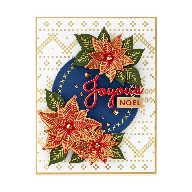 Spellbinders Glimmer Hot Foil Plate - Sparkling Christmas - Christmas Sweater Background - GLP-198