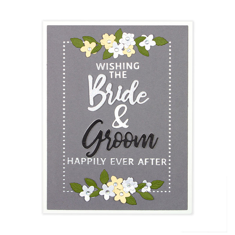 Spellbinders Dies - Wedding Season by Nichol Spohr - Bride & Groom Sentiment -  S2-307