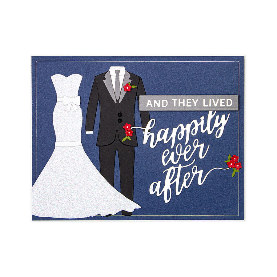 Spellbinders Dies - Wedding Season by Nichol Spohr - Happily Ever After Sentiment -  S2-308