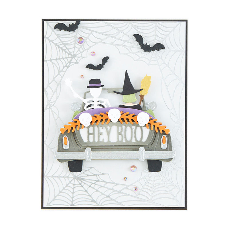Spellbinders Glimmer Hot Foil Plate - Halloween - Spider Web Background - GLP-208