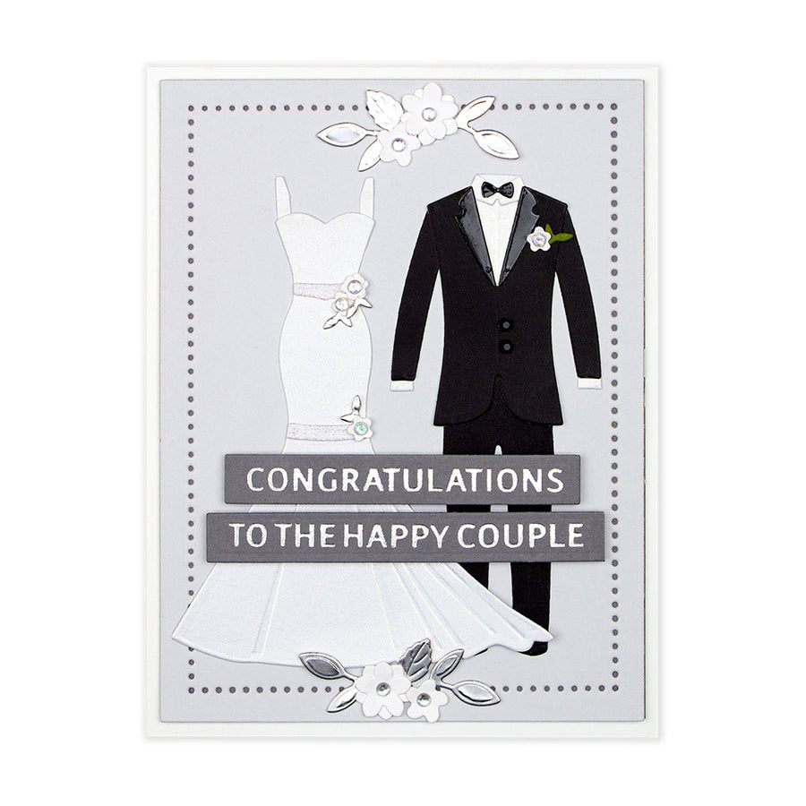 Spellbinders Dies - Wedding Season by Nichol Spohr - Wedding Dress & Tux -  S4 -1057