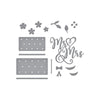 Spellbinders Dies - Wedding Season by Nichol Spohr - Mr & Mrs Wedding Cake -  S4 -1058