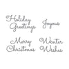 Spellbinders Die - Sparkling Christmas - Christmas Mix & Match Sentiments - S4-1065
