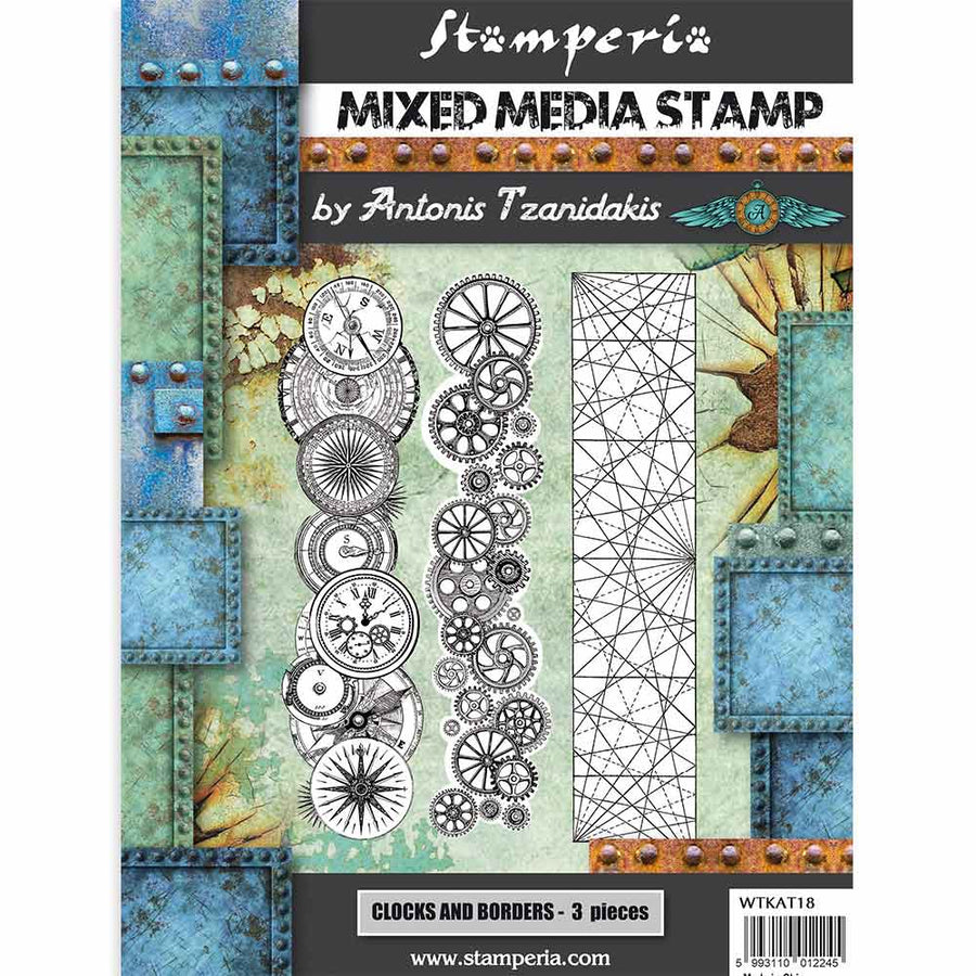 Stamperia - HD 15 x 20 cm Stamp Sir Vagabond - Steampunk Borders