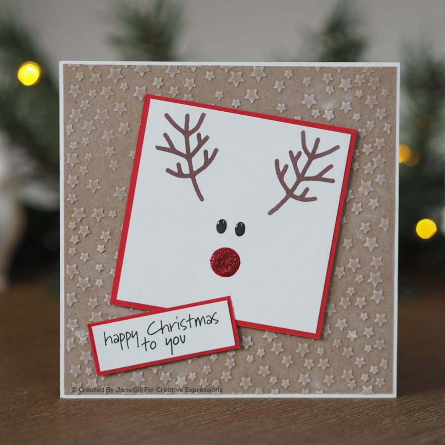 Woodware Clear Singles - Festive Faces - JGS734