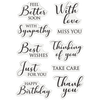Nature's Garden Lily Collection - Clear Acrylic Stamp - Words of Love