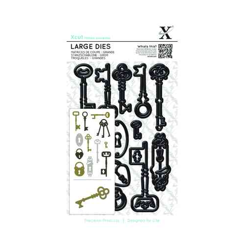 X-Cut Dies: Large Die Set - Locks and Keys (XCU 503236)