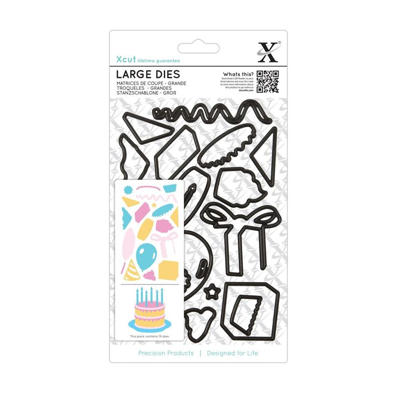 X-Cut Dies: Large Die Set - Birthday Party (XCU 503920)