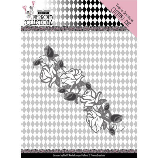 Yvonne Creations Die - Pretty Pierrot Collection 2 - Rose Border