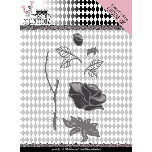 Yvonne Creations Die - Pretty Pierrot Collection 2 - Rose