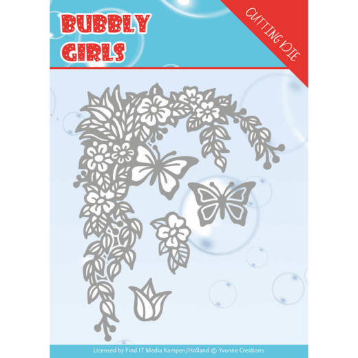 Yvonne Creations - Bubbly Girls Cutting Dies - Flower Corner