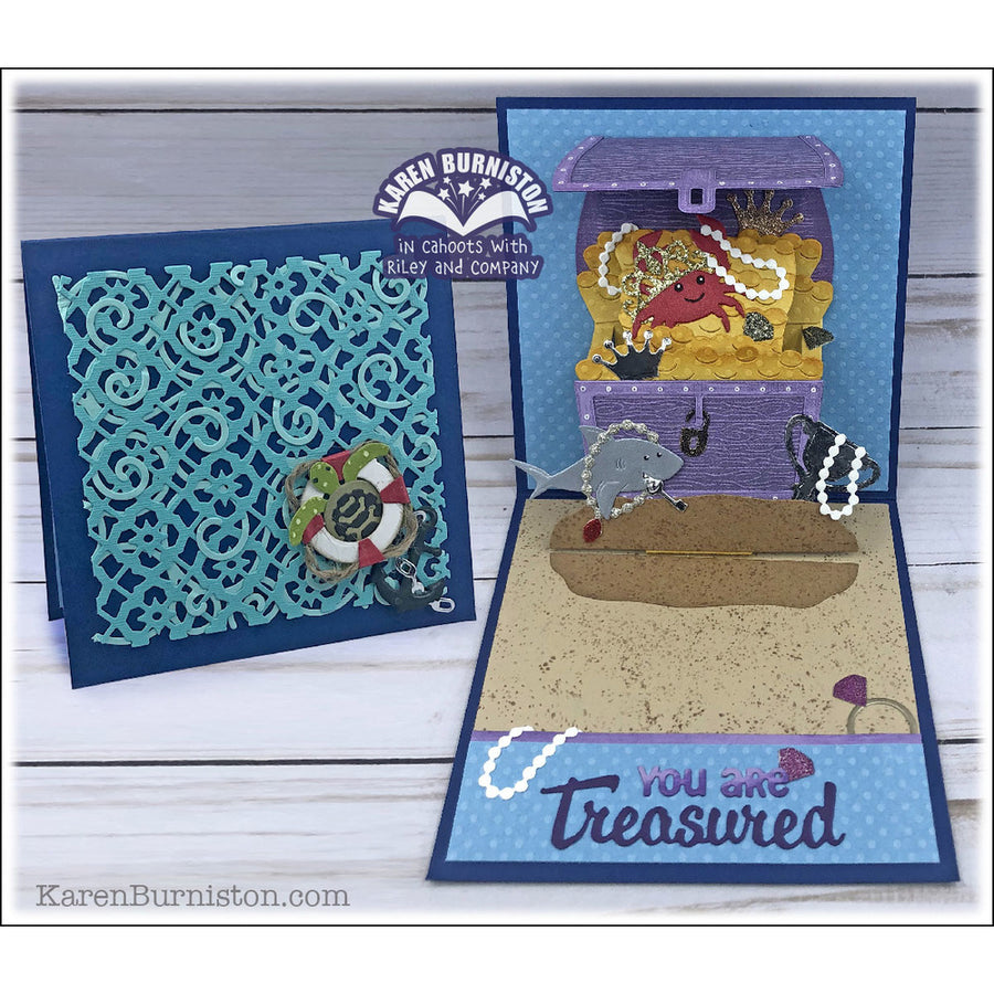 Elizabeth Craft Designs Dies:  Karen Burniston - Treasure Chest (1121)