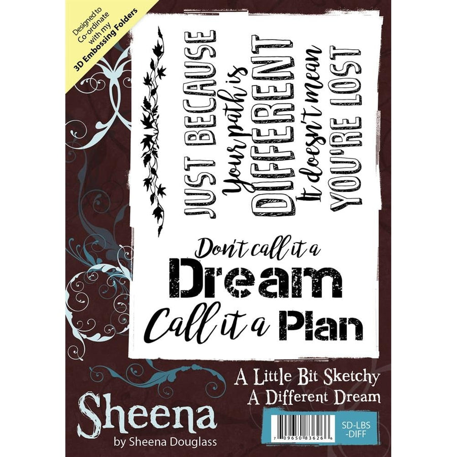 Sheena Douglass A Little Bit Sketchy A6 Unmounted Rubber Stamp - A Different Dream