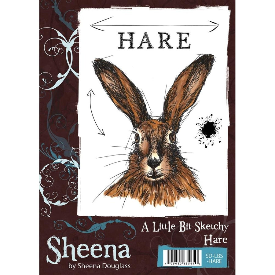Sheena Douglass A Little Bit Sketchy A6 Unmounted Rubber Stamp - Hare