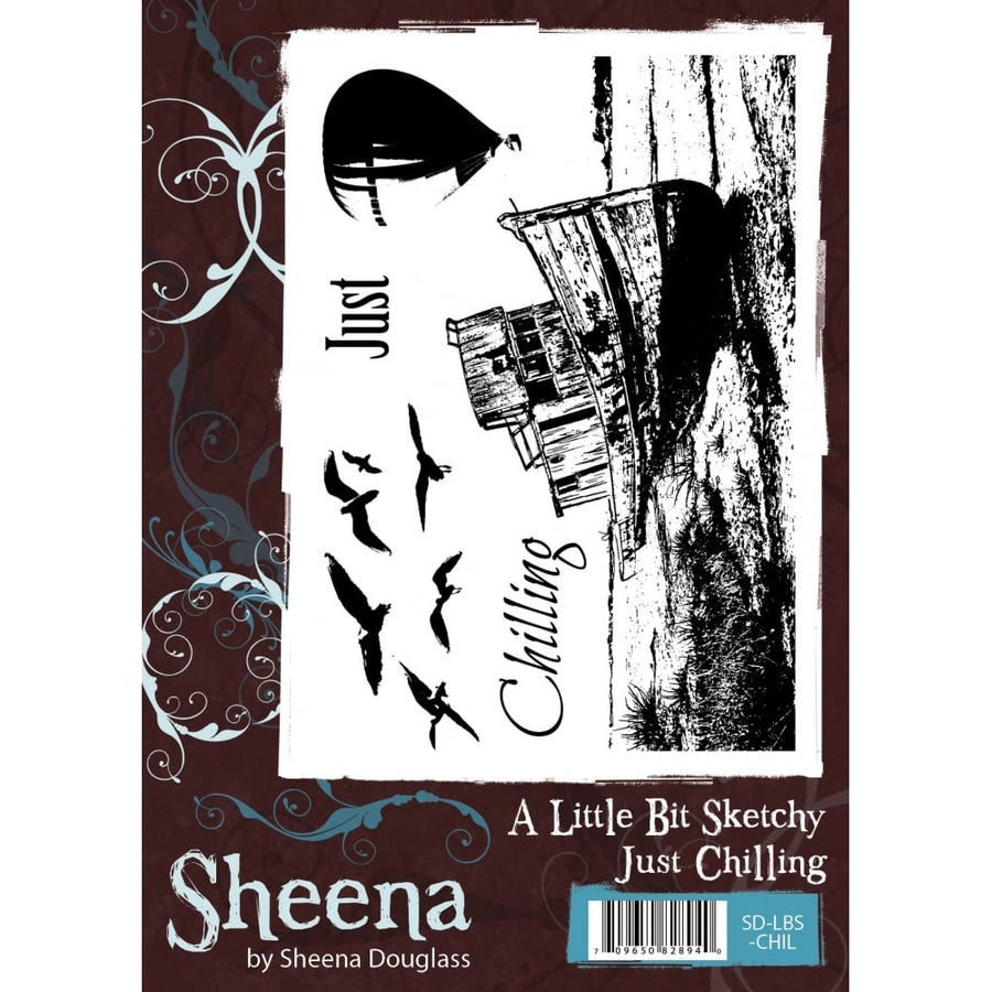 Sheena Douglass A Little Bit Sketchy A6 Unmounted Rubber Stamp - Just Chilling