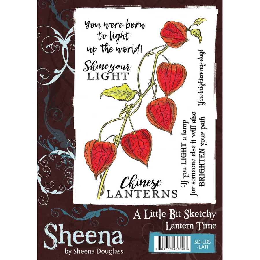 Sheena Douglass A Little Bit Sketchy A6 Unmounted Rubber Stamp - Lantern Time