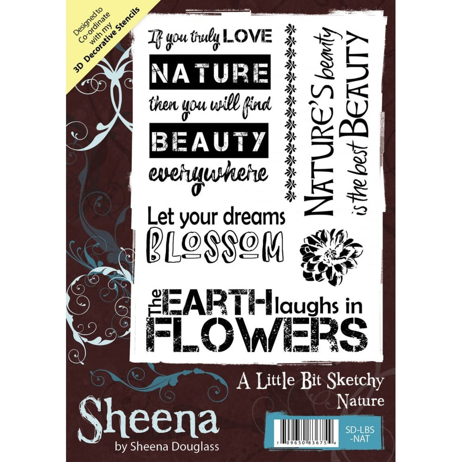 Sheena Douglass A Little Bit Sketchy A6 Unmounted Rubber Stamp - Nature