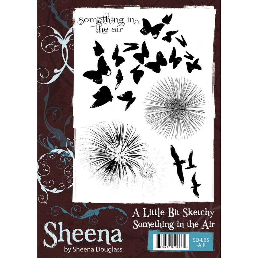 Sheena Douglass A Little Bit Sketchy A6 Unmounted Rubber Stamp - Something in the Air