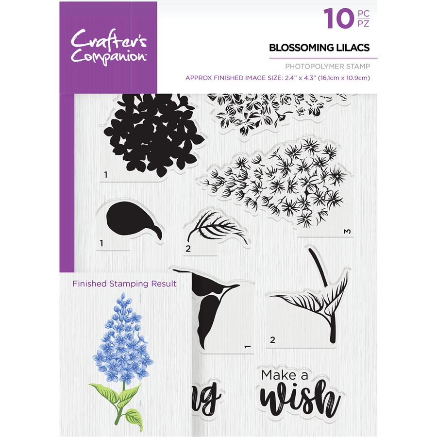 Crafters Companion - Die & Stamp Combo - Blossoming Lilacs