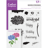 Crafters Compnion - A5 Photopolymer Stamp - Budding Hydrangeas