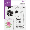 Crafters Companion - A5 Photopolymer Stamp - English Rose